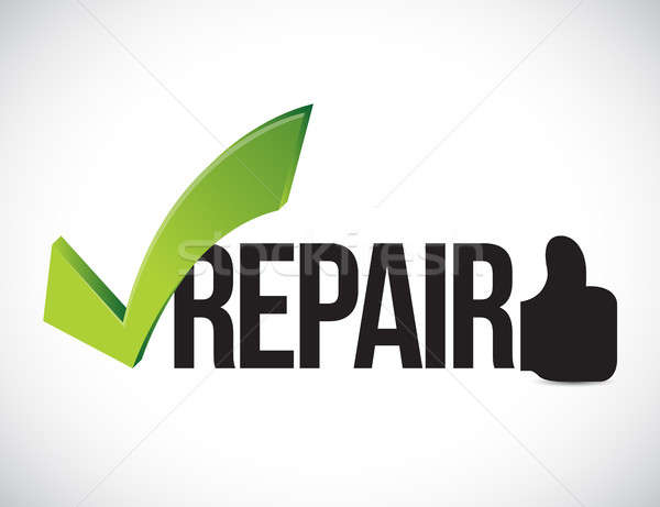 Repair approved concept illustration graphic Stock photo © alexmillos