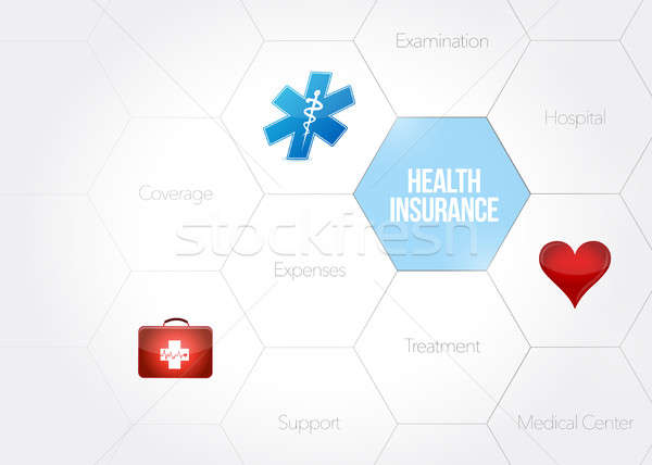 health insurance diagram concept illustration Stock photo © alexmillos
