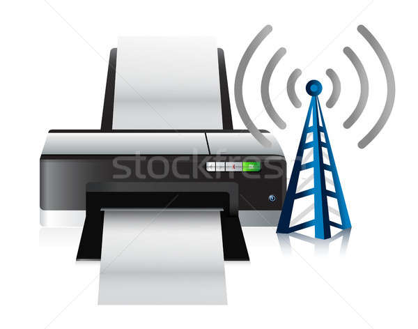 printer and connection tower Stock photo © alexmillos