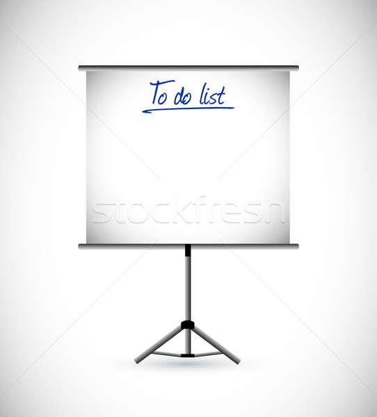 To do list presentatie illustratie ontwerp witte kantoor Stockfoto © alexmillos