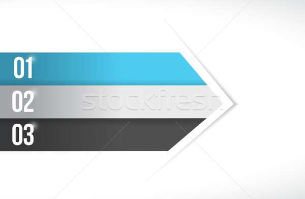 color lines arrow for customization info graphics Stock photo © alexmillos