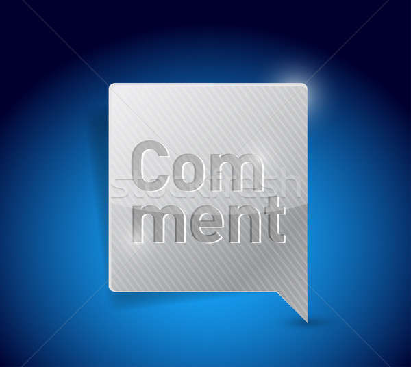 Yorum sosyal medya düğme örnek dizayn grafik Stok fotoğraf © alexmillos