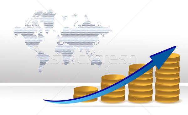 スケジュール 利益 コイン グラフ ビジネス ストックフォト © alexmillos