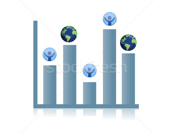 business graph Stock photo © alexmillos
