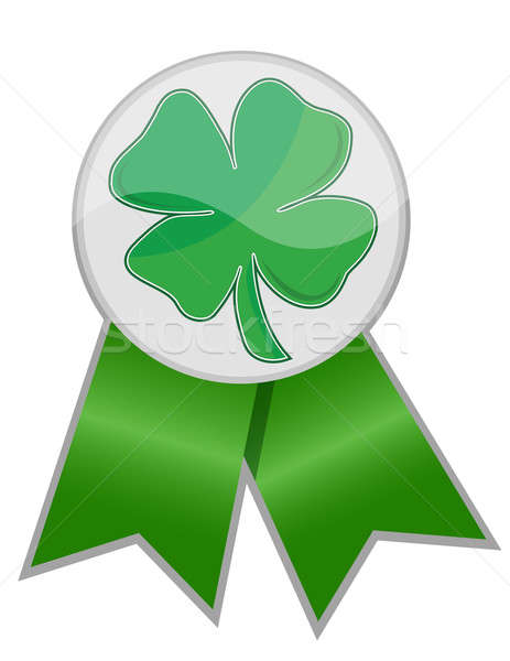 Leafs clover ribbon isolated over a white background. Stock photo © alexmillos