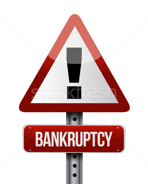 bankruptcy road sign illustration design over a white background Stock photo © alexmillos