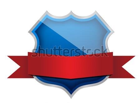 shield seal illustration design over a white background Stock photo © alexmillos