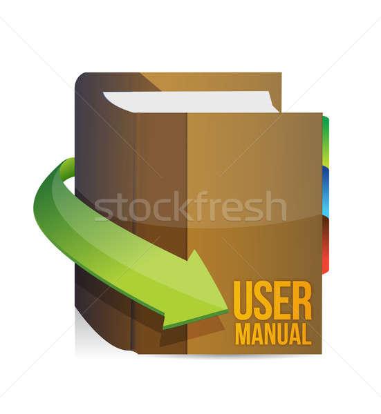 Usuario orientar manual libro ilustración diseno Foto stock © alexmillos