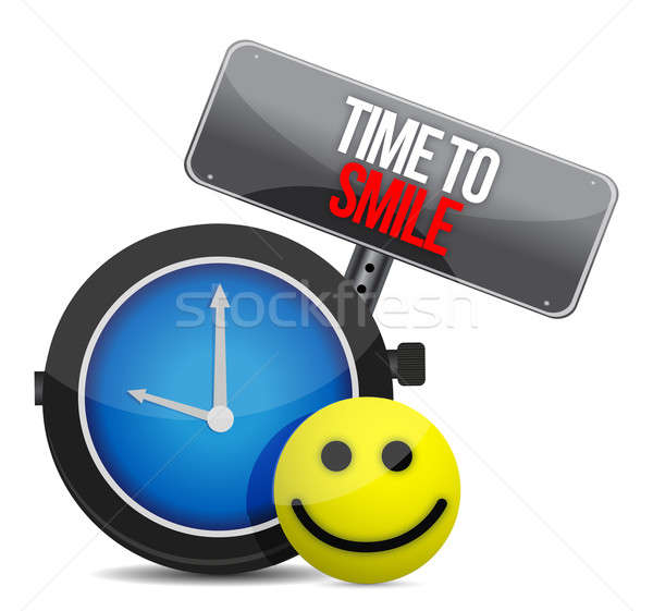 Time to Smile and a happy face Stock photo © alexmillos