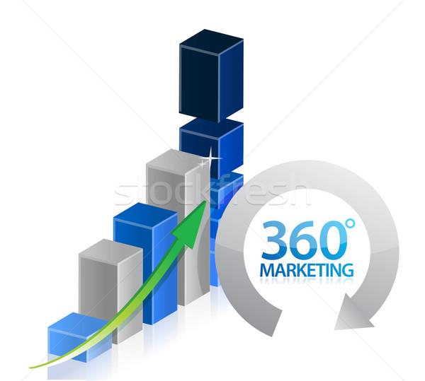 Comercialización gráfico ilustración diseno blanco Internet Foto stock © alexmillos