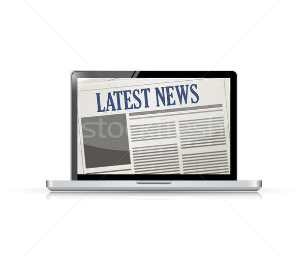 Latest News and technology illustration design over white Stock photo © alexmillos