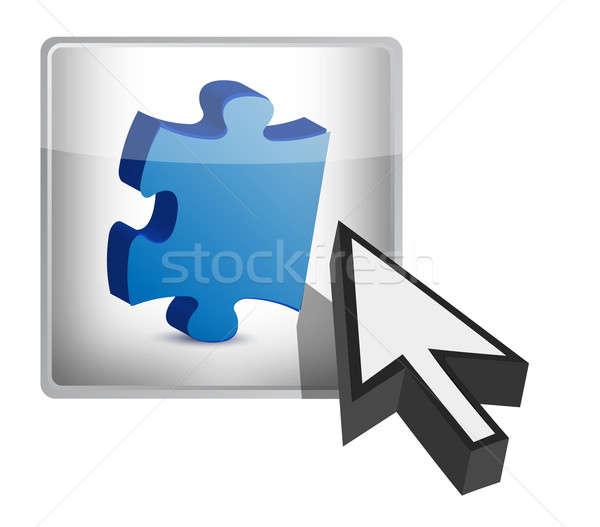 отсутствующий кусок кнопки иллюстрация дизайна белый Сток-фото © alexmillos