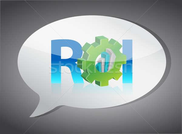 Stock fotó: Roi · szövegbuborék · illusztráció · terv · fehér · internet