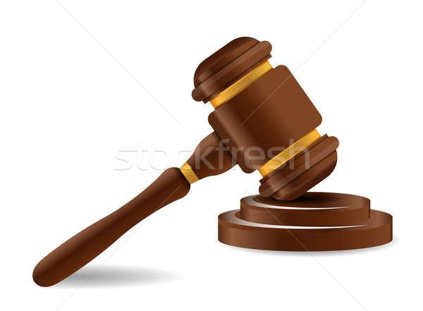 Gabela soar fundo justiça advogado juiz Foto stock © alexmillos