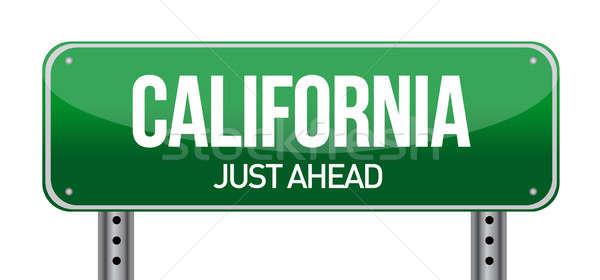Yeşil Kaliforniya ABD sokak işareti yol şehir Stok fotoğraf © alexmillos