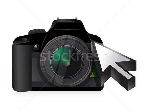 Camera technology cursor  Stock photo © alexmillos