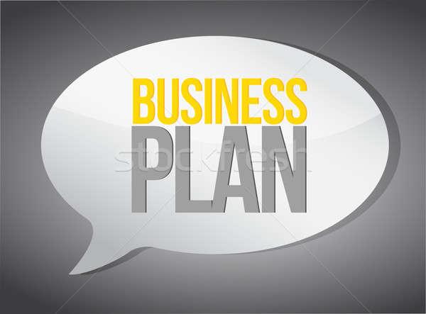 Stock photo: Business plan speech bubble illustration design