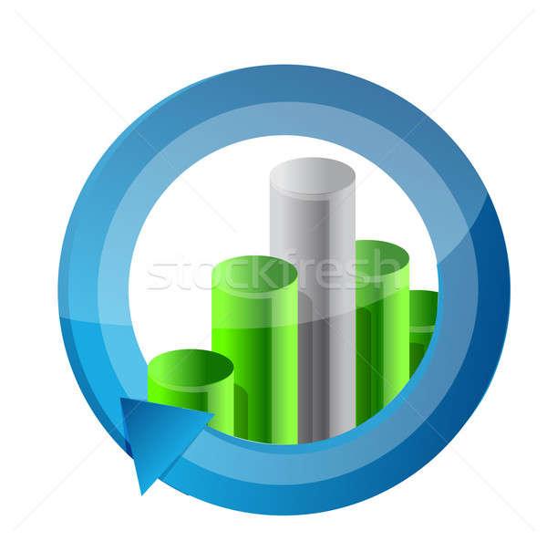 бизнес-графика цикл иллюстрация дизайна бизнеса знак Сток-фото © alexmillos