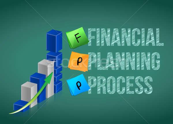 финансовое планирование процесс бизнес-графика дизайна менеджера диаграммы Сток-фото © alexmillos