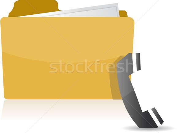 Contact us folder Stock photo © alexmillos