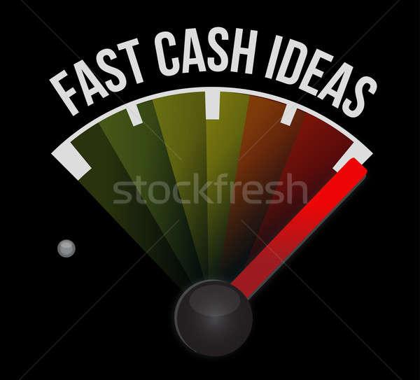 Rápido efectivo idea velocímetro coche signo Foto stock © alexmillos