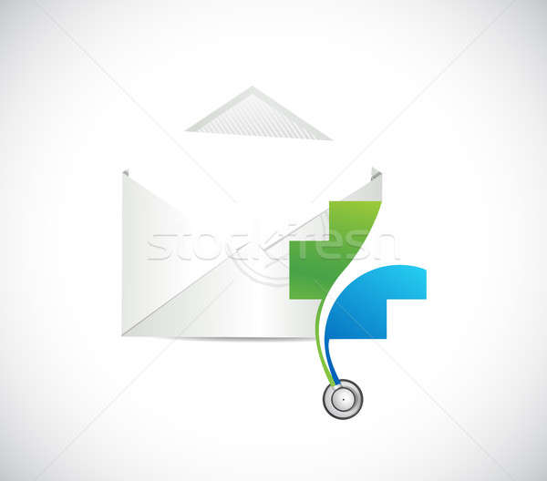 health correspondence concept. illustration design Stock photo © alexmillos