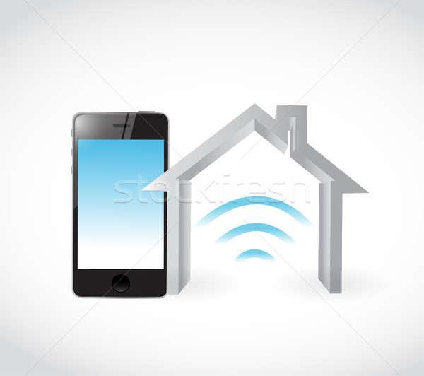 Stock photo: smart home phone concept illustration design