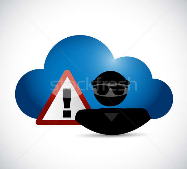 cloud computing hackers concept illustration Stock photo © alexmillos