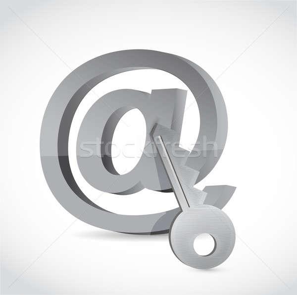 электронная почта символ ключевые интернет безопасности дизайна Сток-фото © alexmillos