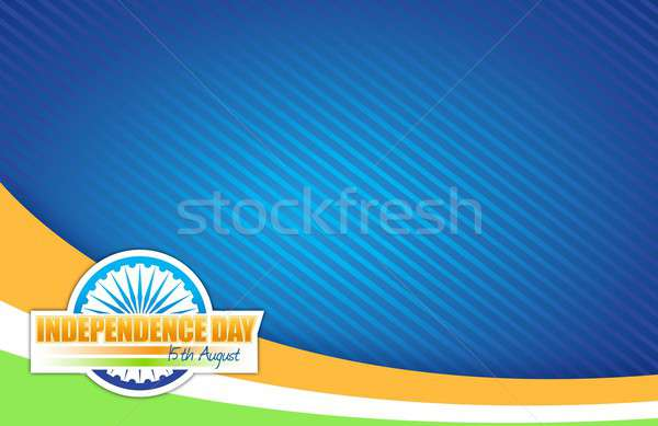 Indian Flagge Tag Design Illustration Grafik Stock foto © alexmillos