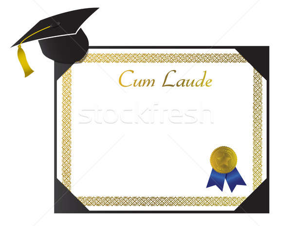 Cum Laude College Diploma with cap and tassel Stock photo © alexmillos