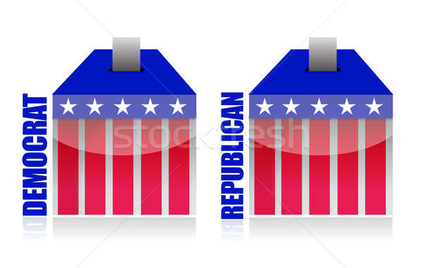 democrat vs republican ballot box illustration Stock photo © alexmillos