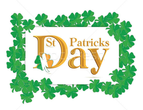 St. Patrick's Days design over a white background Stock photo © alexmillos