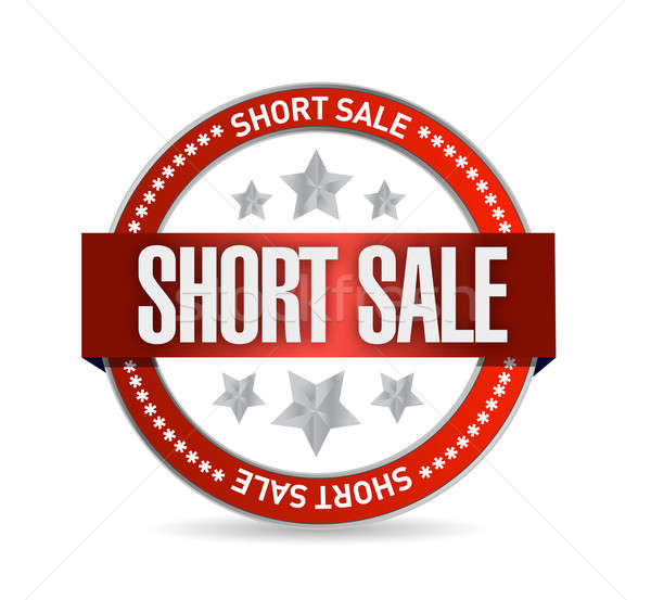 short sale seal stamp illustration design over a white backgroun Stock photo © alexmillos