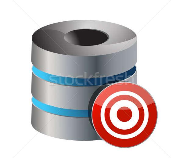 Database server target isolato bianco mobile Foto d'archivio © alexmillos