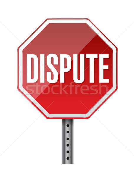 depicting a sign with a dispute concept. illustration design Stock photo © alexmillos