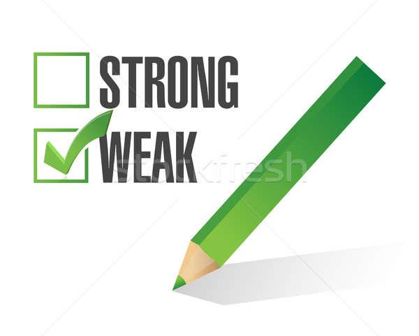 Zayıf güçlü örnek dizayn beyaz yeşil Stok fotoğraf © alexmillos