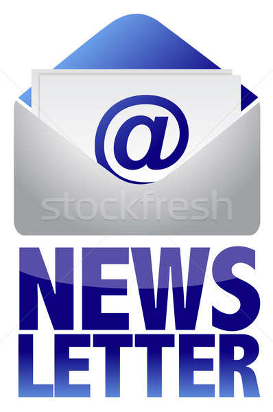 Newsletter Bild Text E-Mail Illustration Design Stock foto © alexmillos
