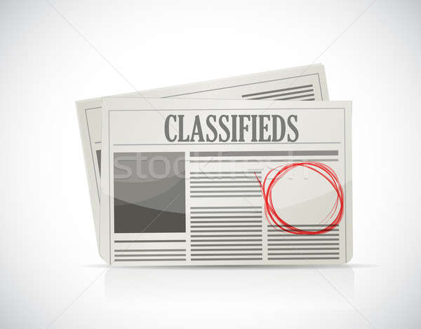 Classified Ad, newspaper, business concept. illustration design Stock photo © alexmillos
