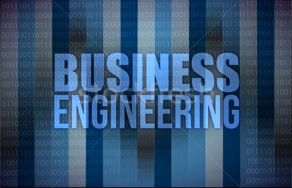Business Engineering digitalen Bildschirm Schlüssel Wissenschaft Stock foto © alexmillos