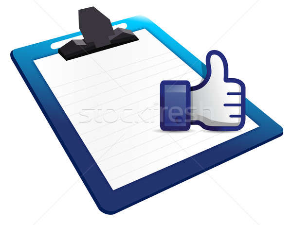Clipboard thumb up Stock photo © alexmillos