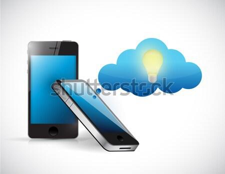 Teléfono móvil acceso teléfono mundo resumen Foto stock © alexmillos