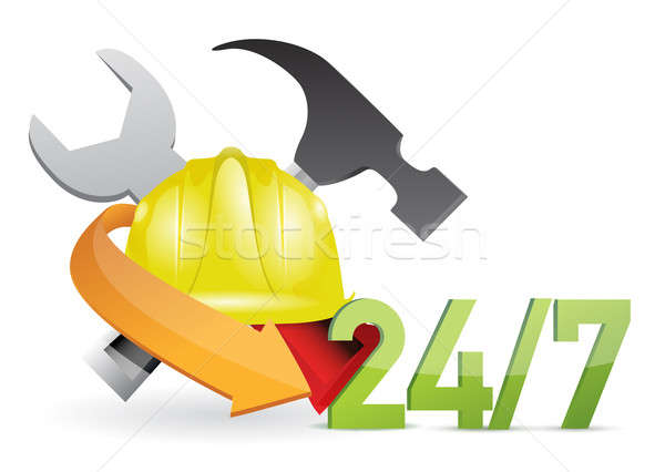 Stock photo: Costumer service under construction sign