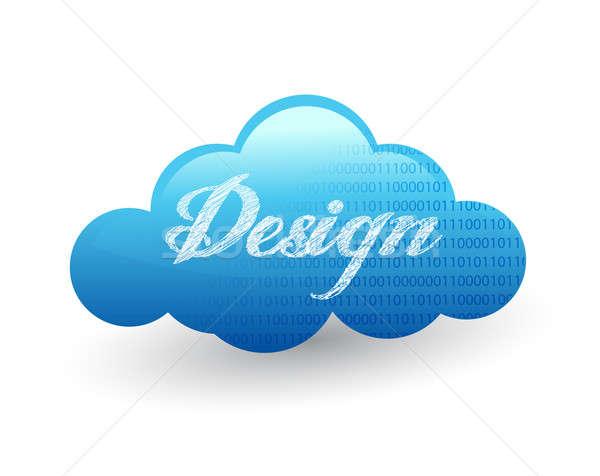 Cloud design illustration  Stock photo © alexmillos