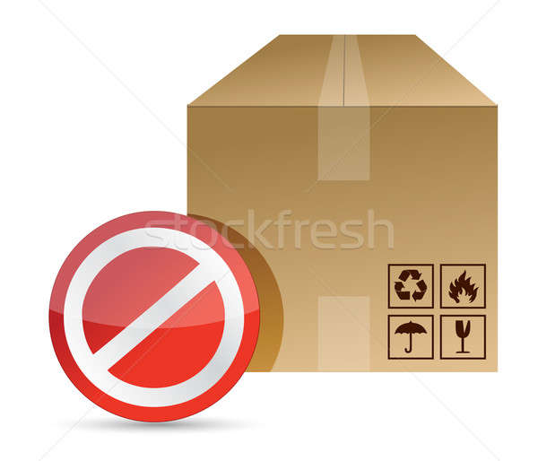 Do not, dont sign on a brown box packaging  Stock photo © alexmillos