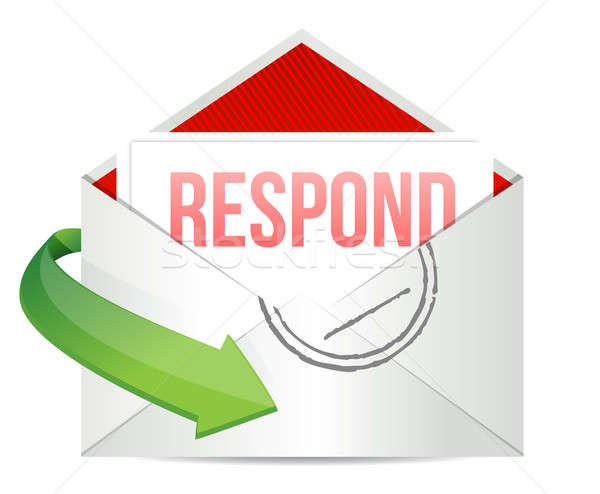Respond envelope  Stock photo © alexmillos