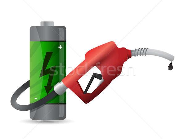 Elem benzinkút pumpa fúvóka üzlet technológia művészet Stock fotó © alexmillos