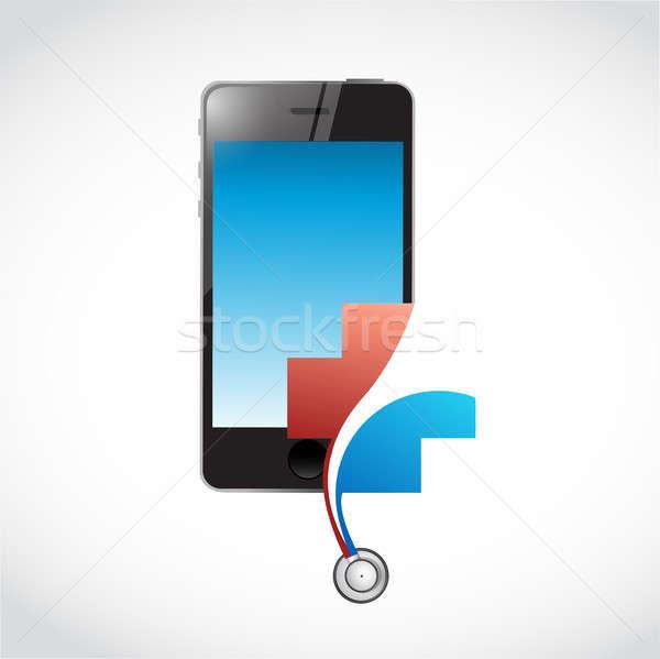 Mobile electronic health concept. illustration Stock photo © alexmillos