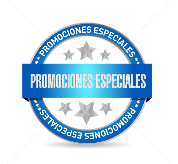 special promotions in Spanish seal sign concept Stock photo © alexmillos