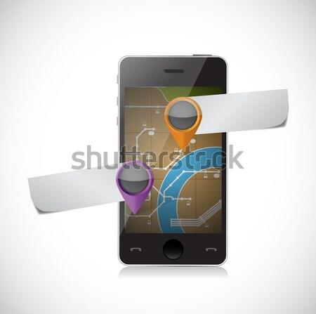 üzleti grafikon képernyő illusztráció terv fehér internet Stock fotó © alexmillos